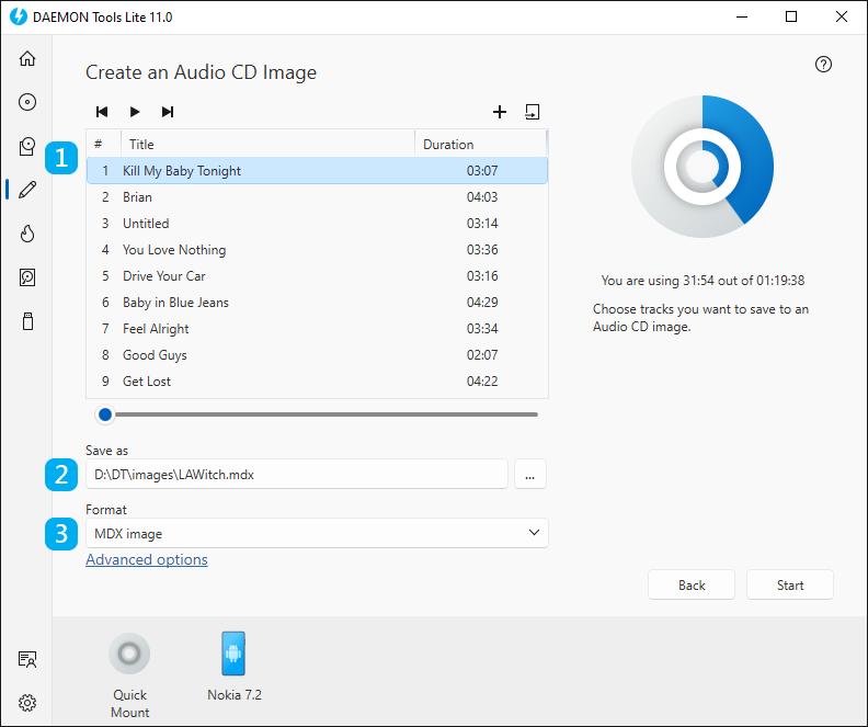 how to create audio cd with imgburn
